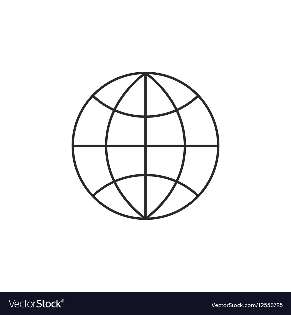 Globe Icon Outline Vector Image