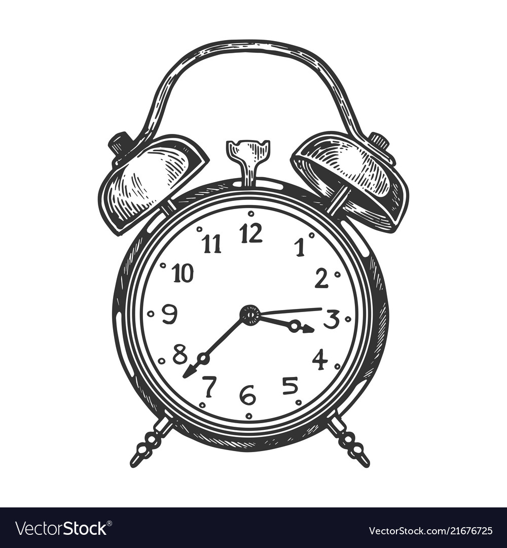 Old Fashioned Alarm Clock Vector Image