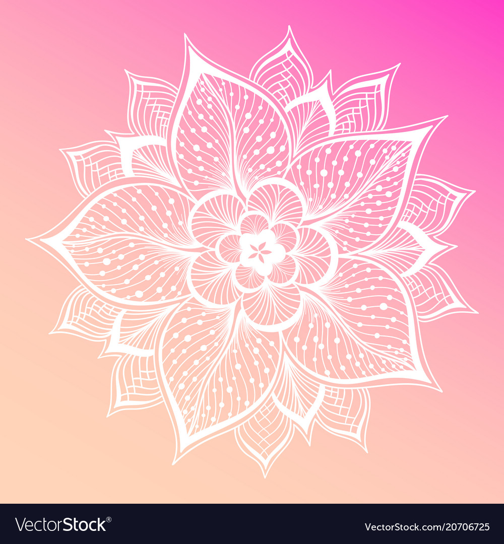 Pastel pink background flower mandala vintage vector image mightylinksfo