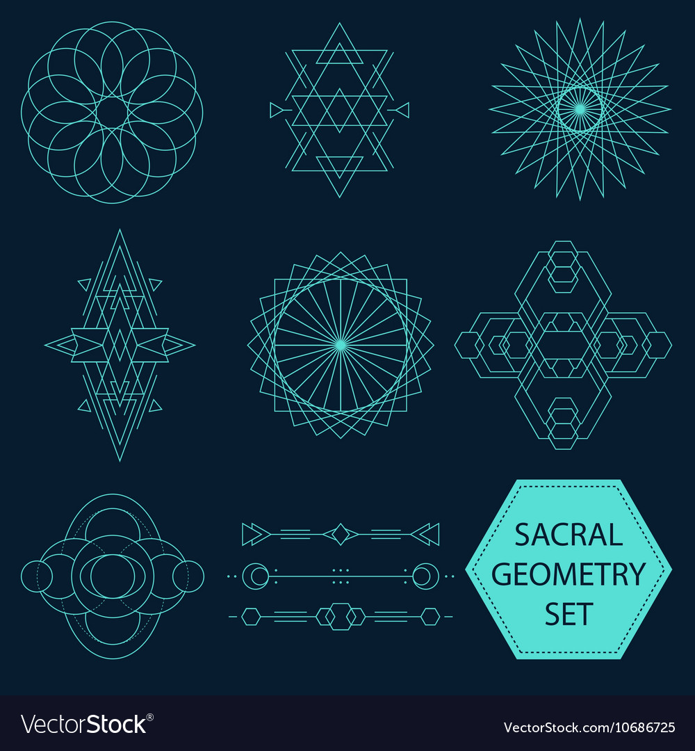 Sacral Geometry Set vector image