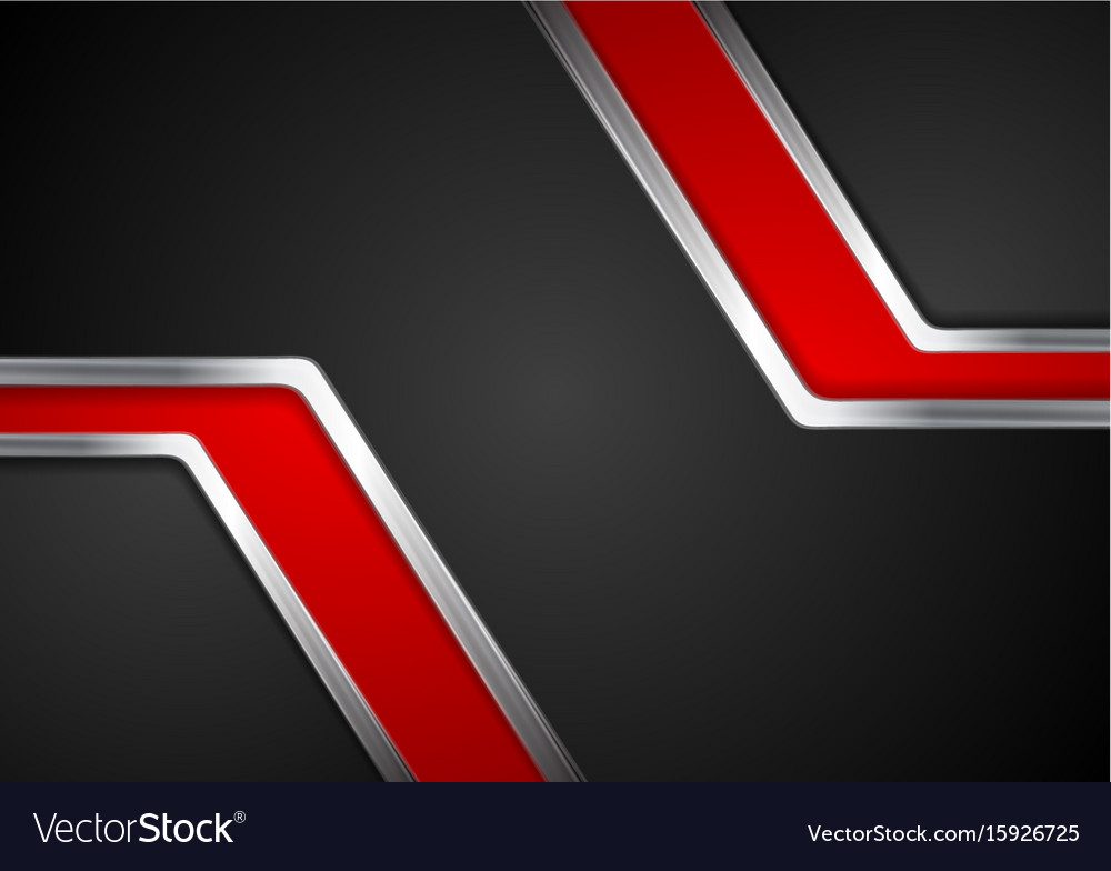 Technology red and black background with metal vector image