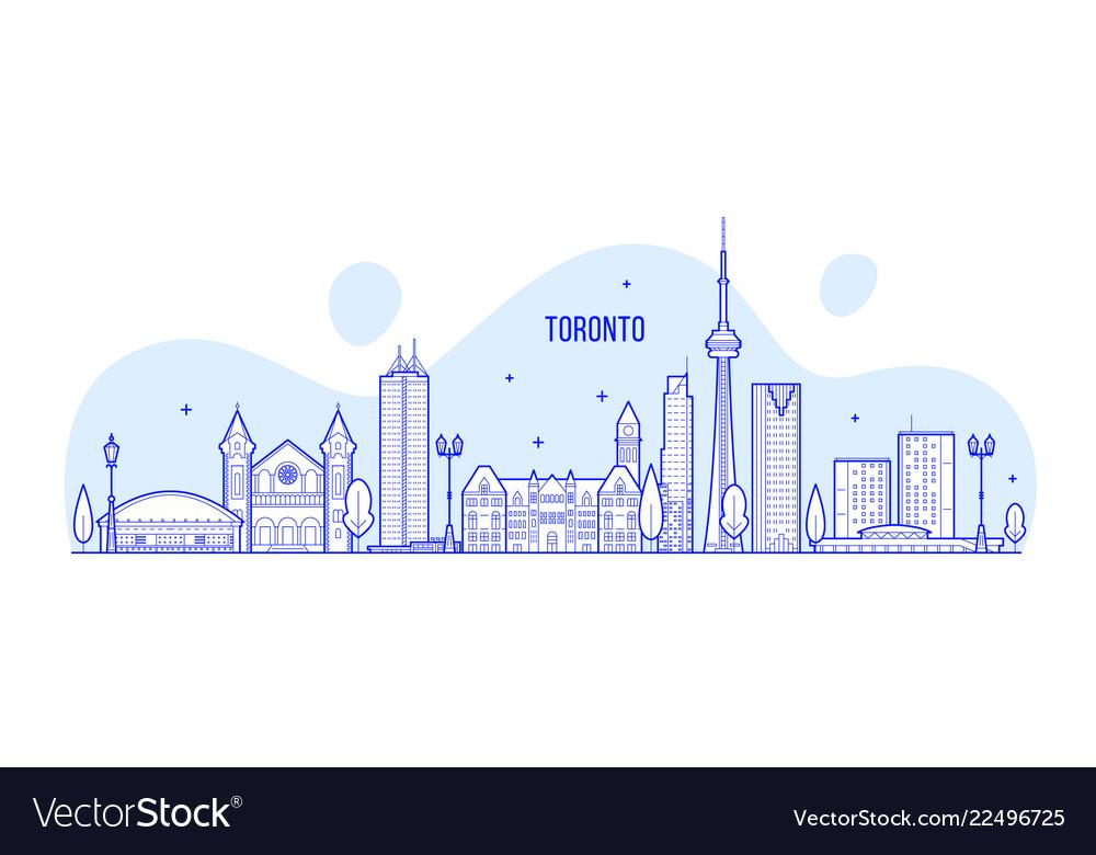 Toronto skyline canada big city buildings