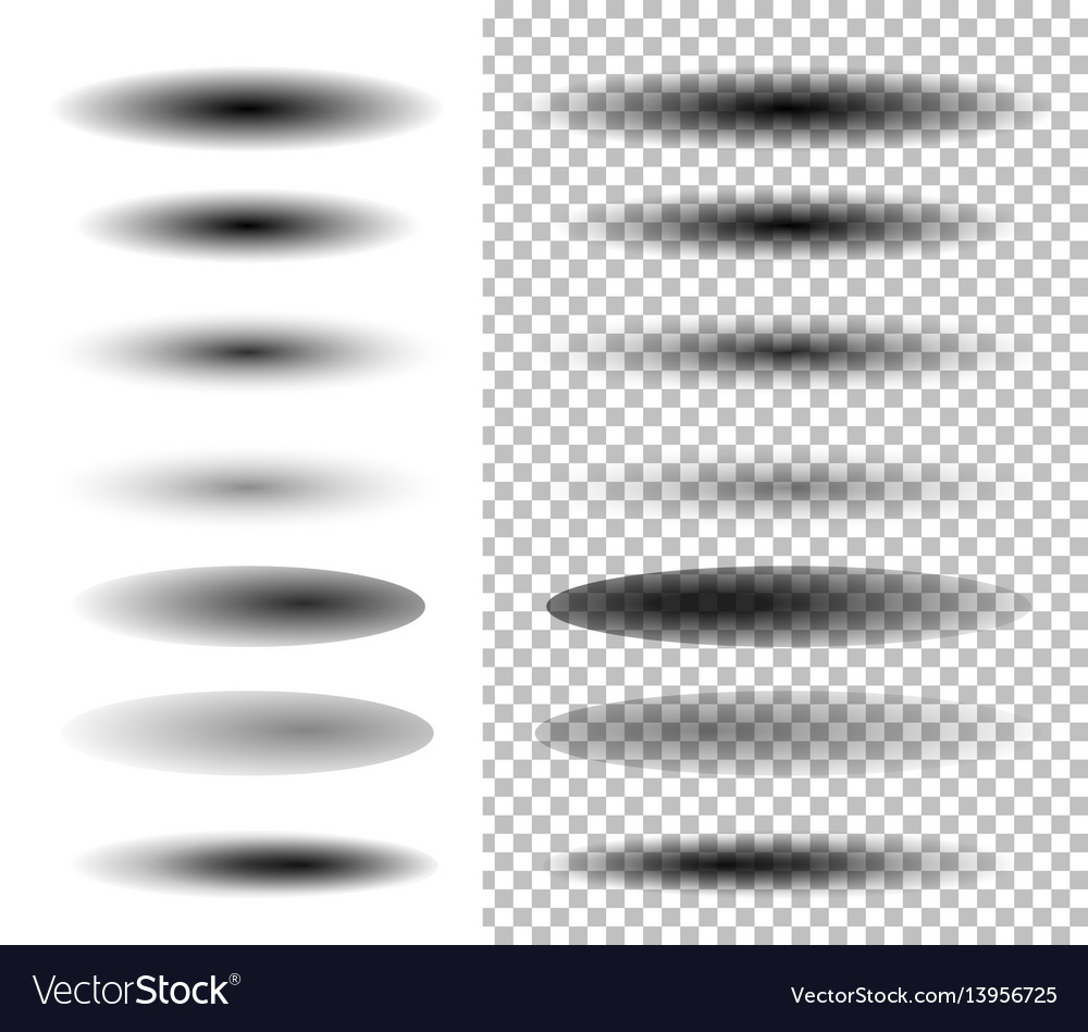 Transparent oval shadow vector image
