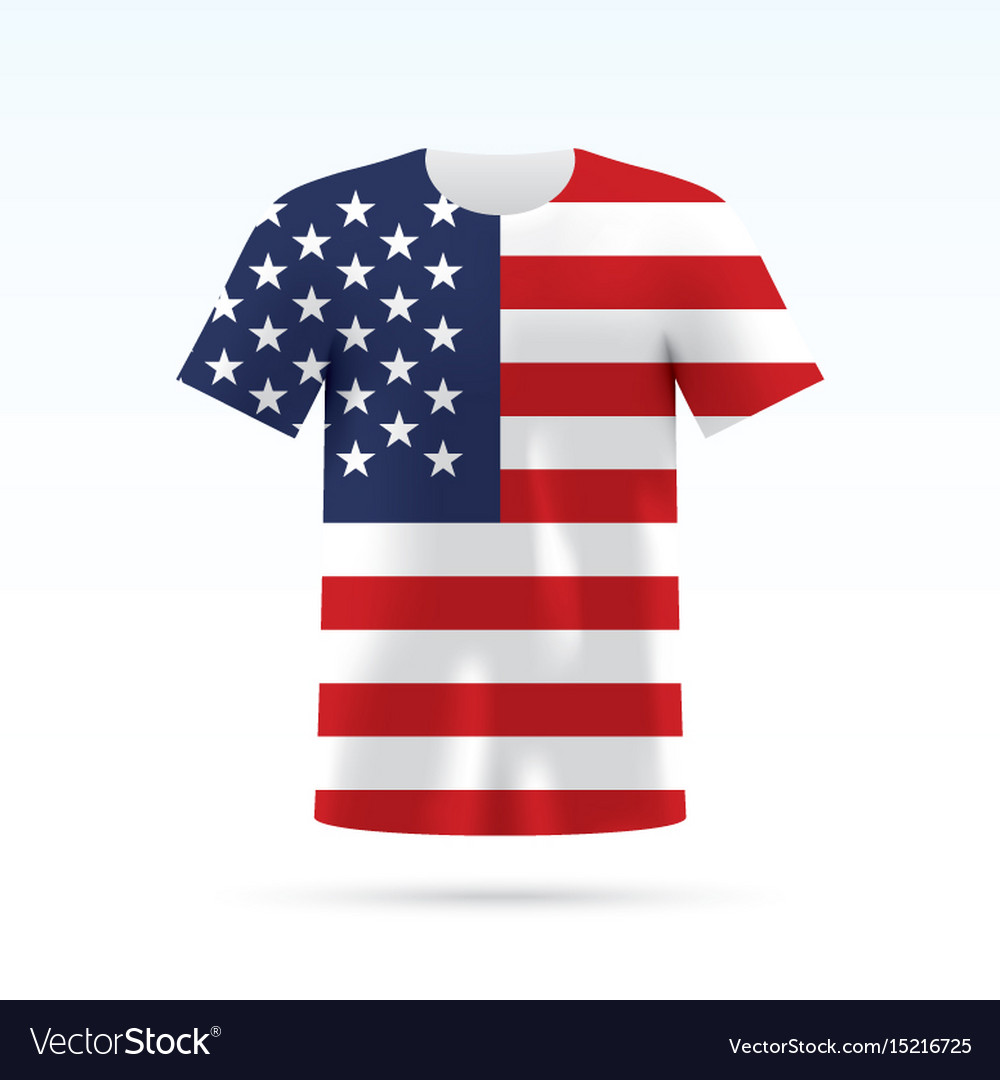 Usa Flag T Shirt Royalty Free Vector Image Vectorstock