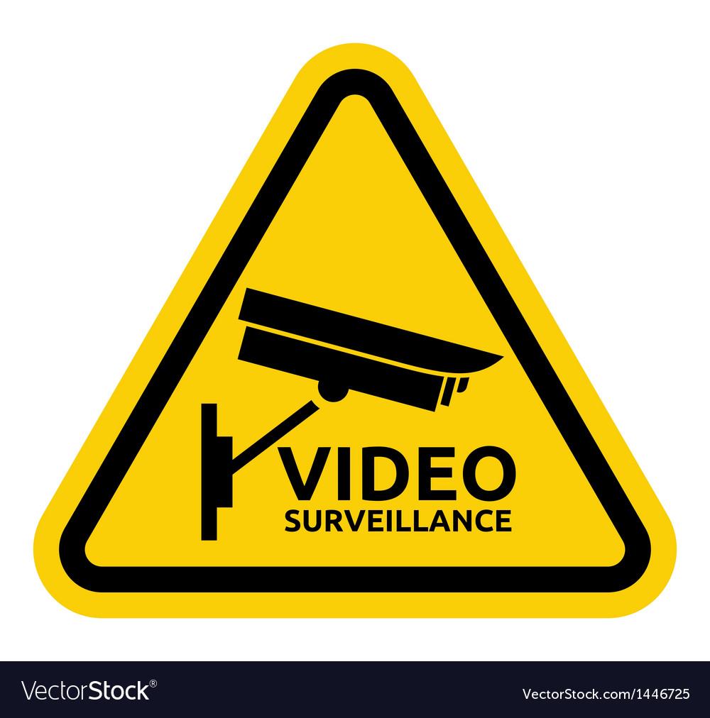 Video surveillance sign