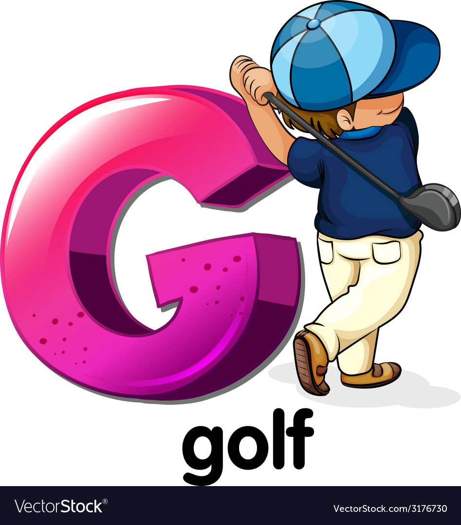 A letter G for golf Royalty Free Vector Image - VectorStock