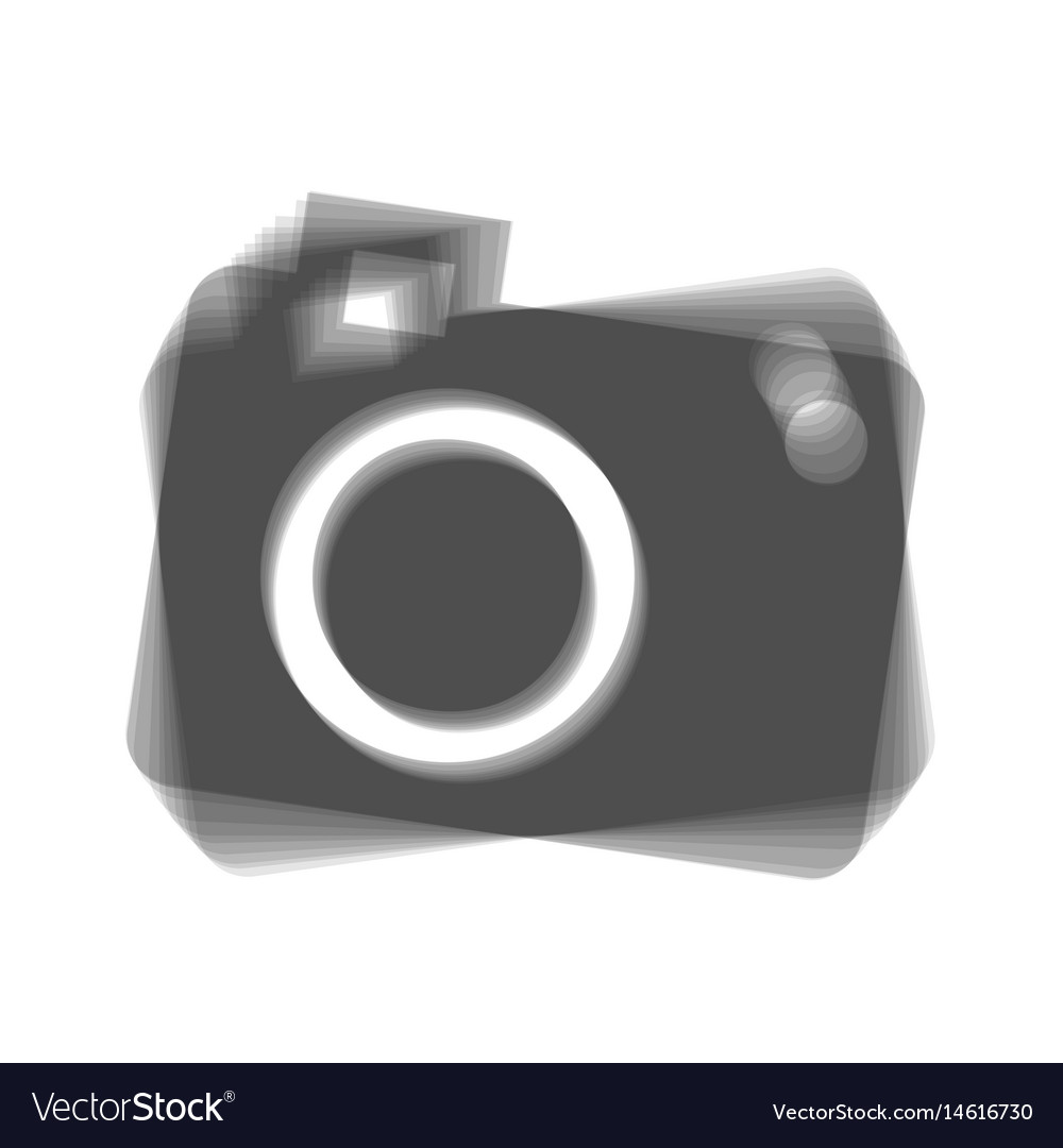 Digital camera sign gray icon shaked at