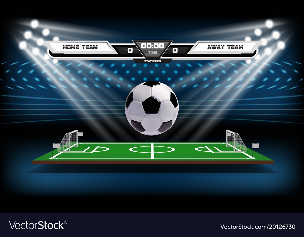 Football or soccer playing field with infographic vector image