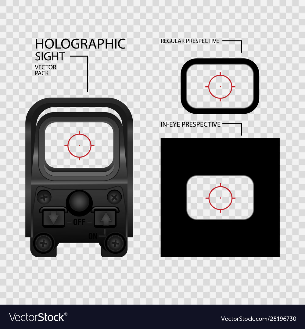 Realistic holographic sight scope