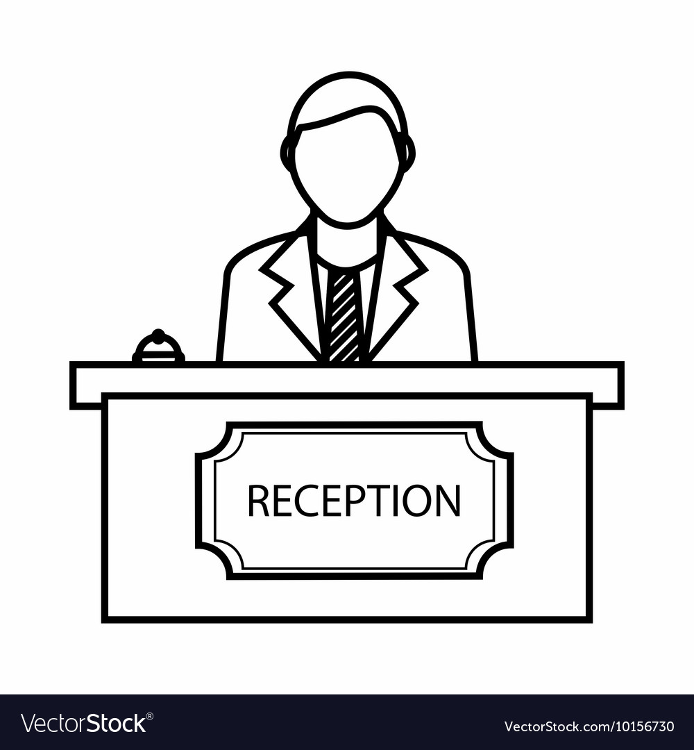 Reception icon outline style