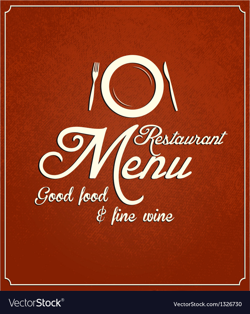 Restaurant menu 2 vector image