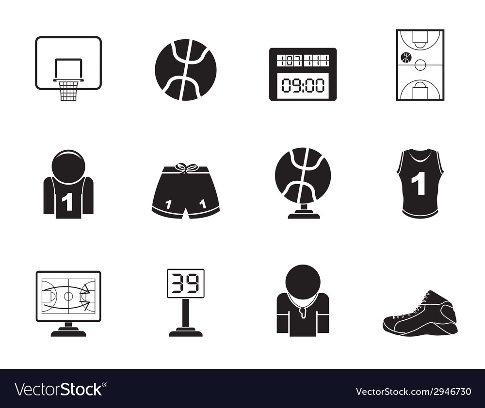Silhouette Basketball and sport icons