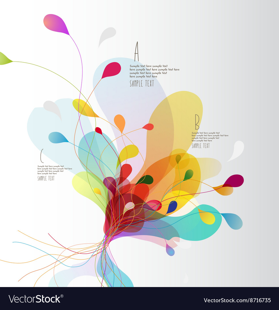 Abstract colored background with circles vector image
