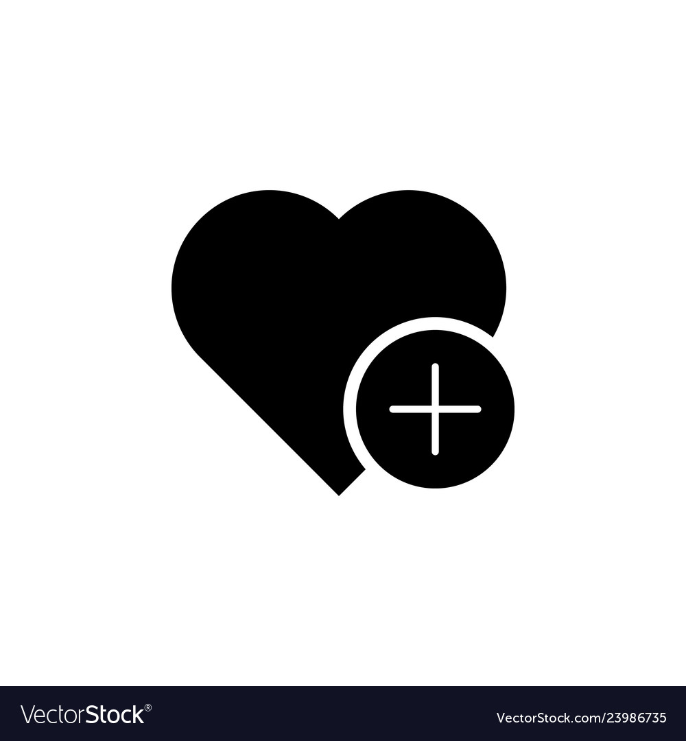 Add heart favorite icon signs and symbols can be