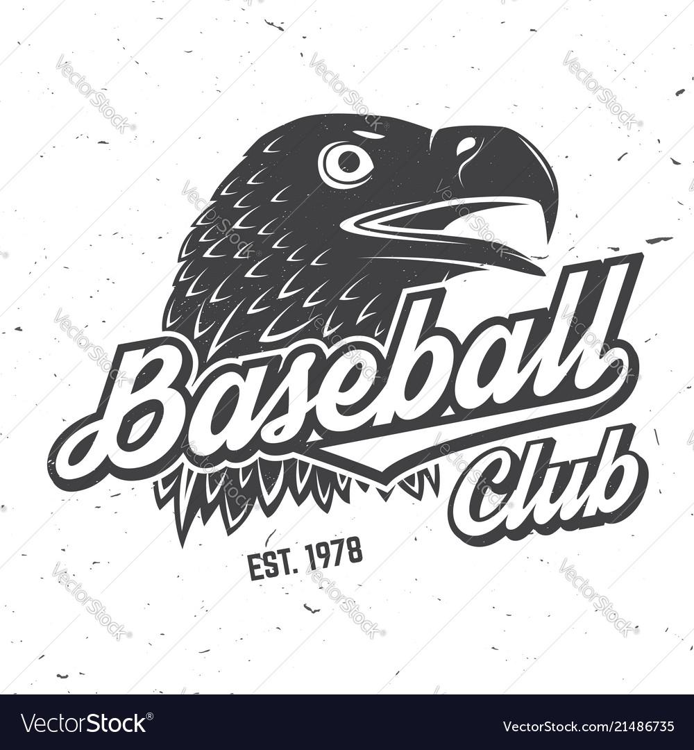 Baseball club badge concept