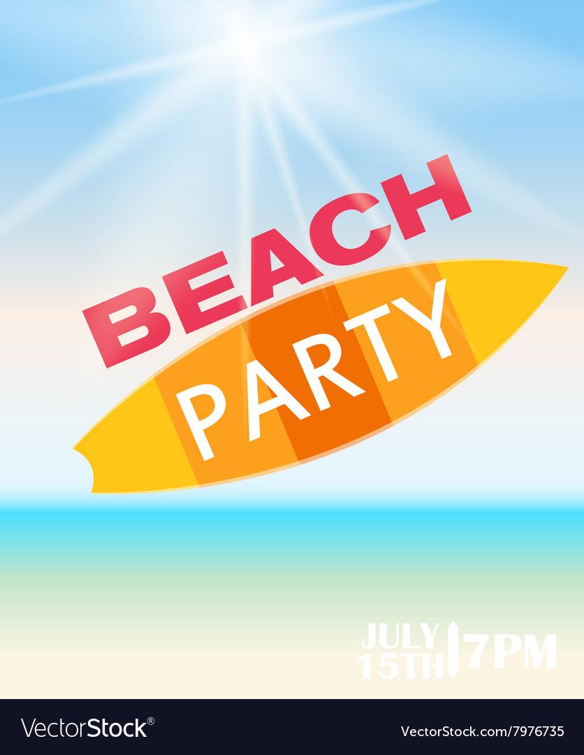 Beach Summer Party Poster