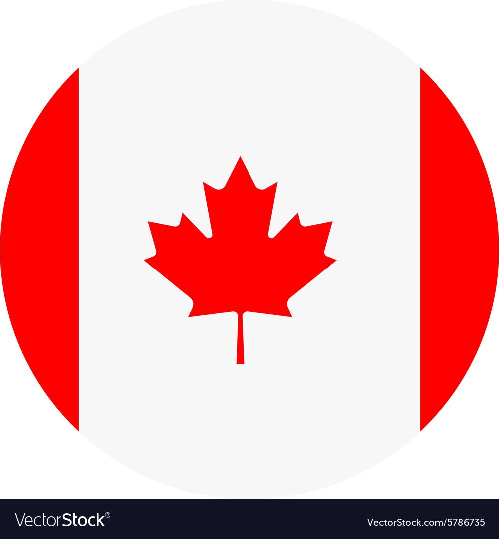 canada flag royalty free vector image vectorstock rh vectorstock com