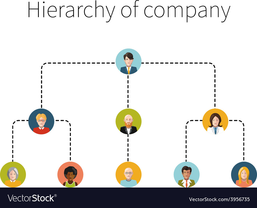 Hierarchy of company flat isolated
