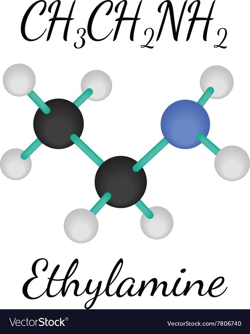 CH3CH2NH2 ethylamine molecule