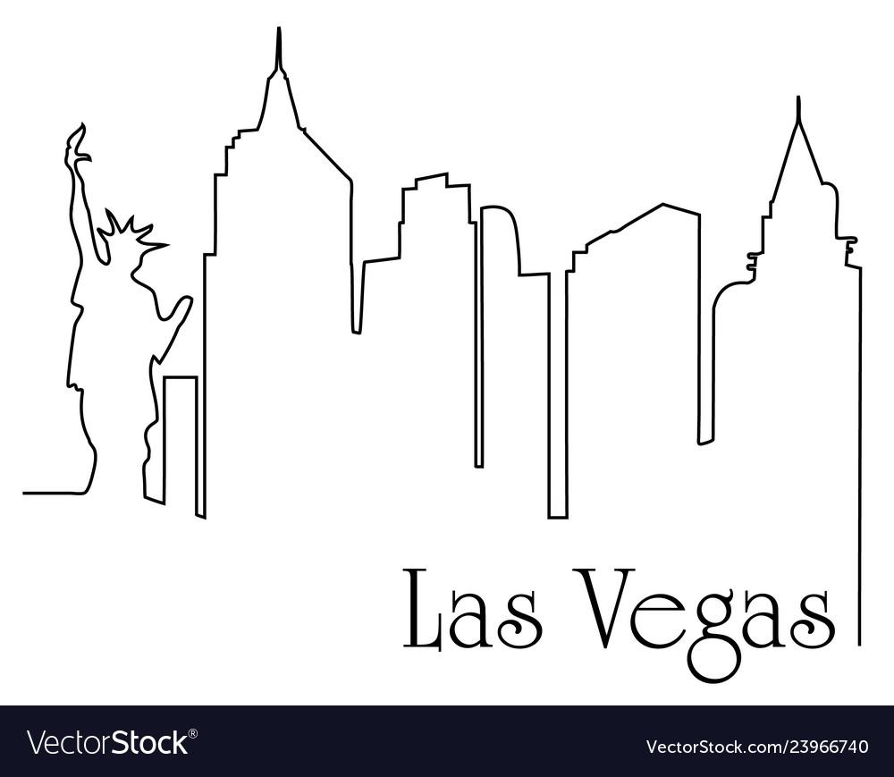 Las vegas city one line drawing