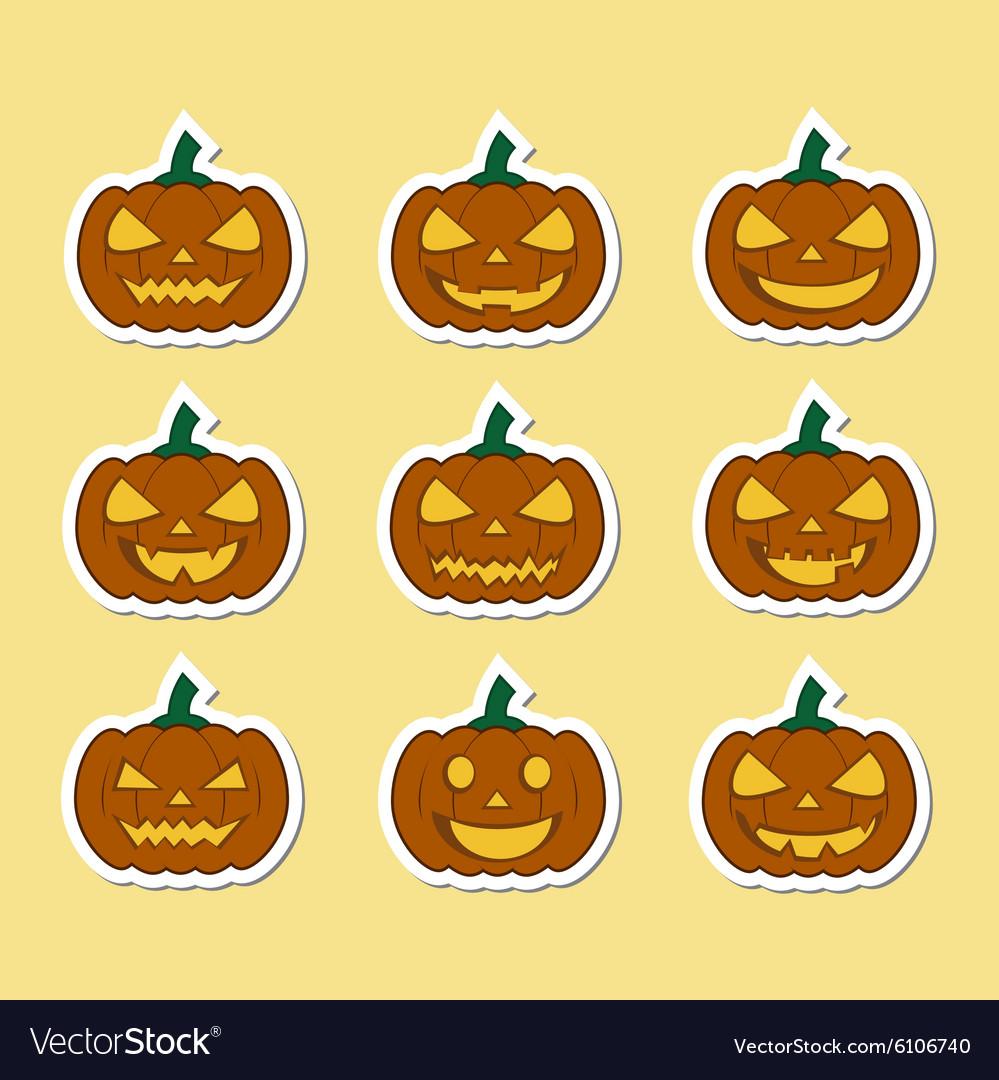 Pumpkins for Halloween set