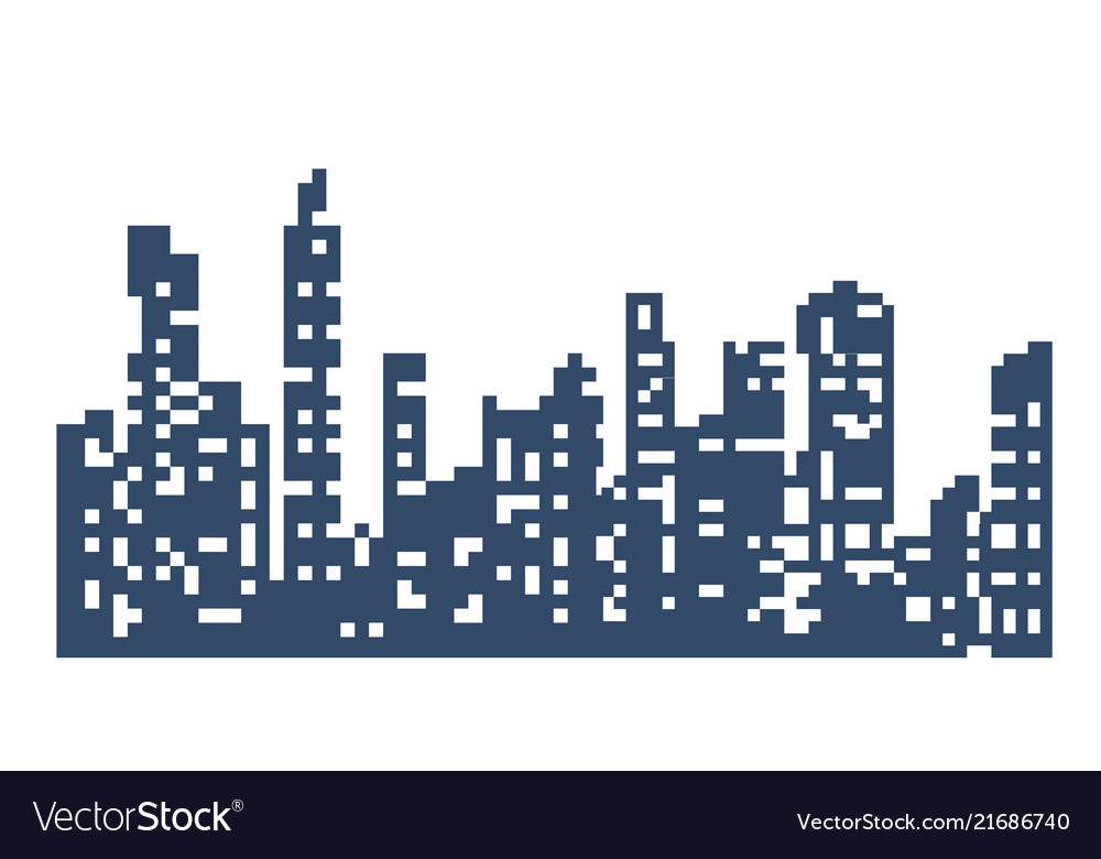 Silhouette of the city landscape