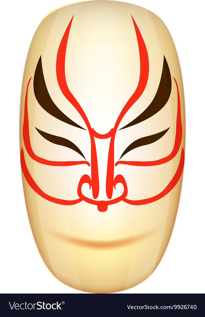 Traditional Japan Mask Kabuki