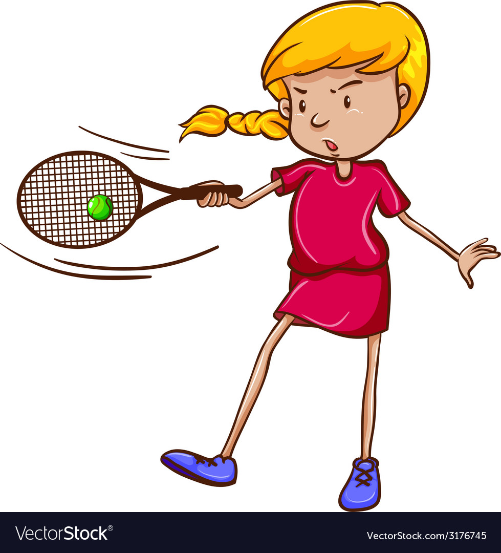 A female tennis player vector image