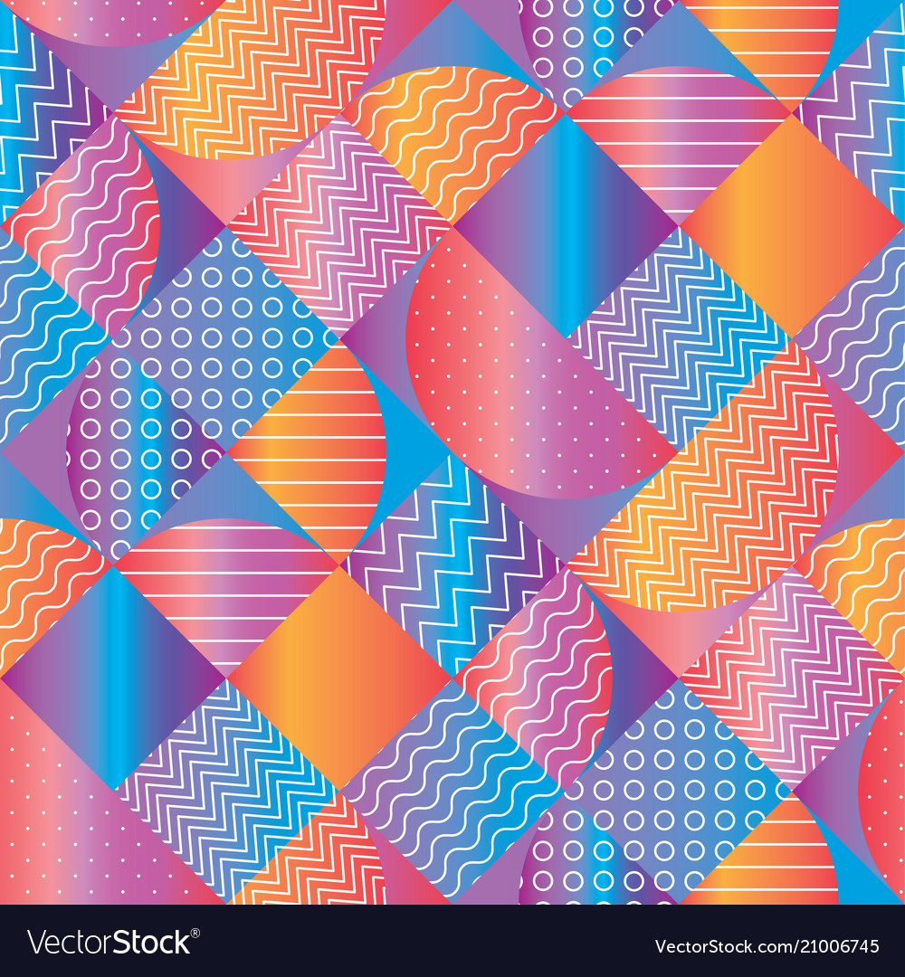 Concept colorful geometric seamless pattern