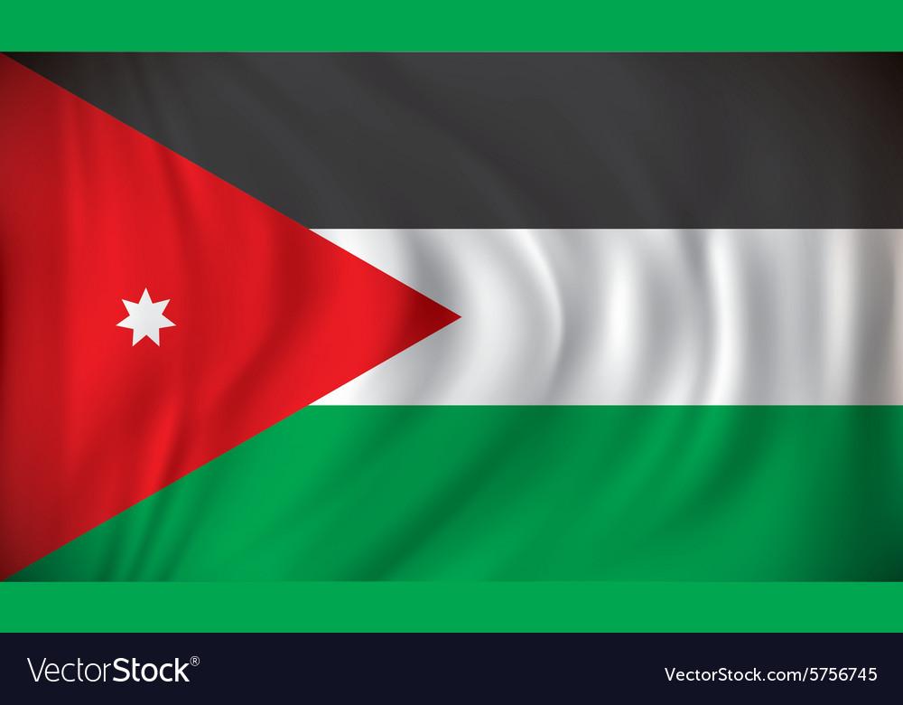 flag of jordan royalty free vector image vectorstock