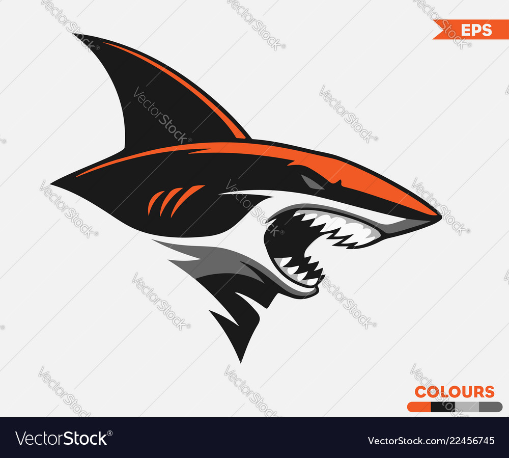 Orange shark logo