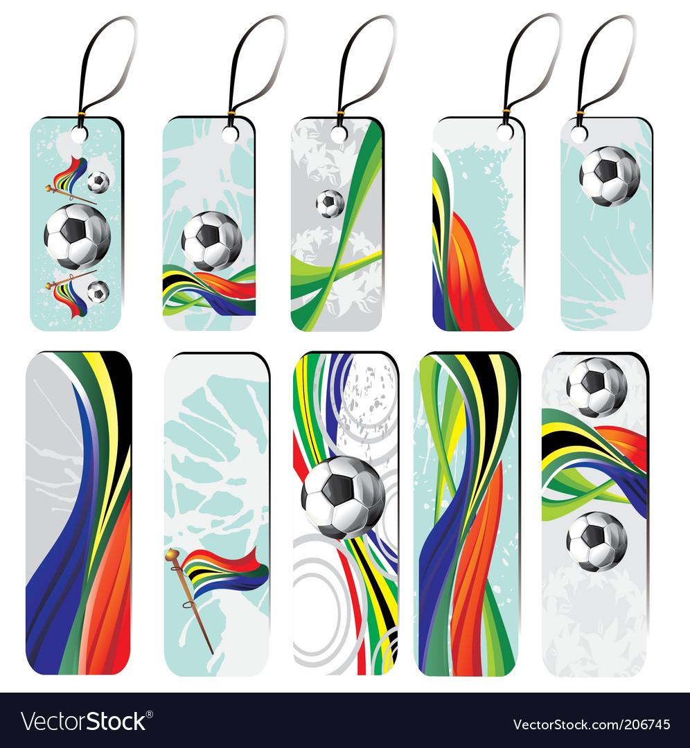 Set of football tags vector image
