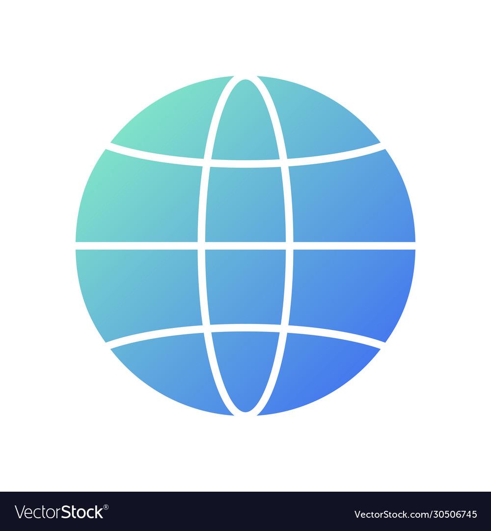 Simple globe symbol globe icon technology logo