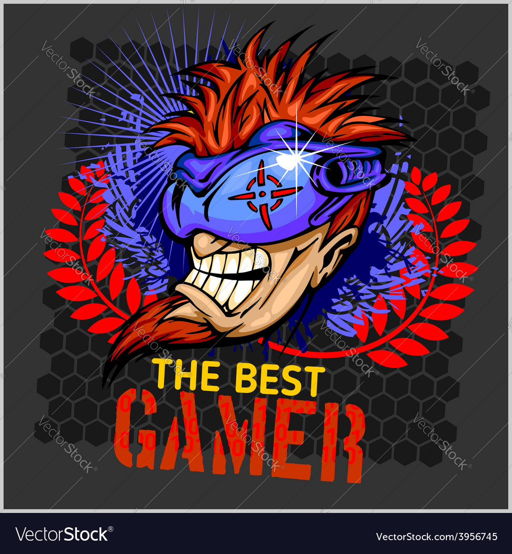 The Best Gamer T Shirt Design Royalty Free Vector Image
