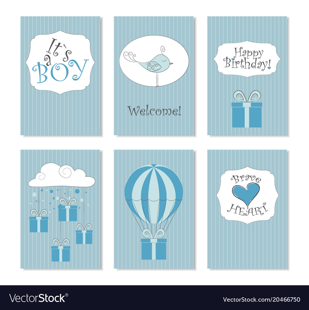 Stupendous 6 Printable Birthday Cards Royalty Free Vector Image Funny Birthday Cards Online Overcheapnameinfo
