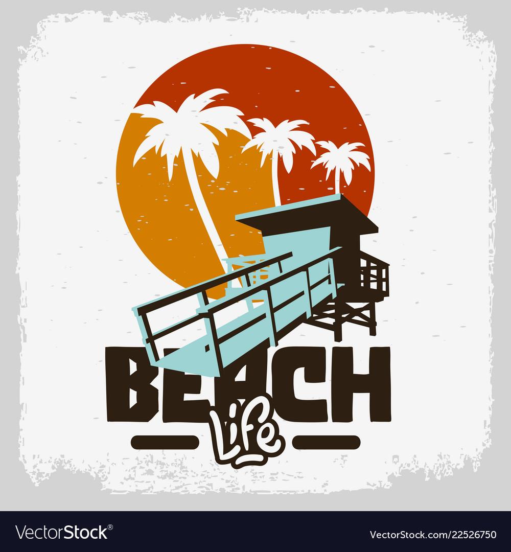 Beach life lifeguard tower station beach rescue