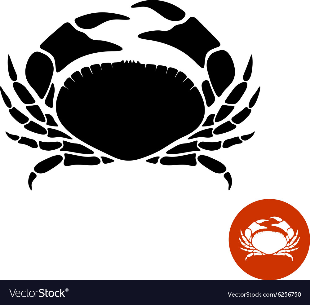 Crab black silhouette