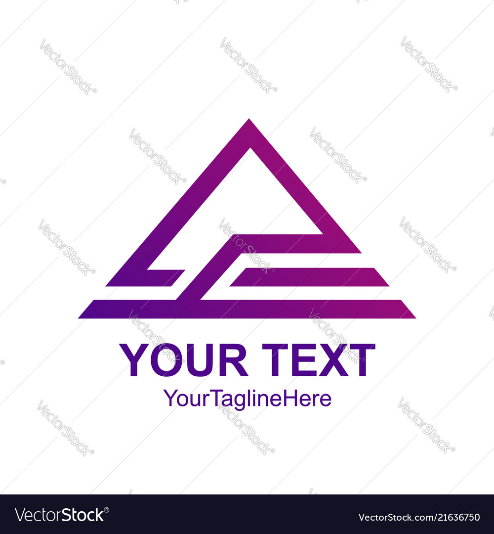 Creative Abstract Triangle Roof Logo Design Vector Image