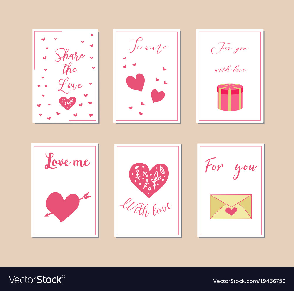 Decorative greeting cards for valentine s day
