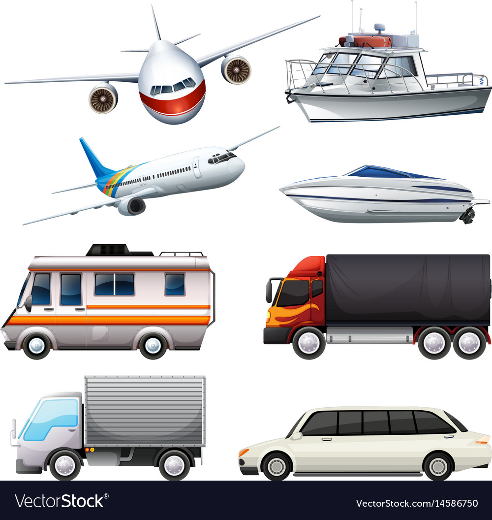 Different Types Of Vehicles >> Different Types Of Vehicles Royalty Free Vector Image