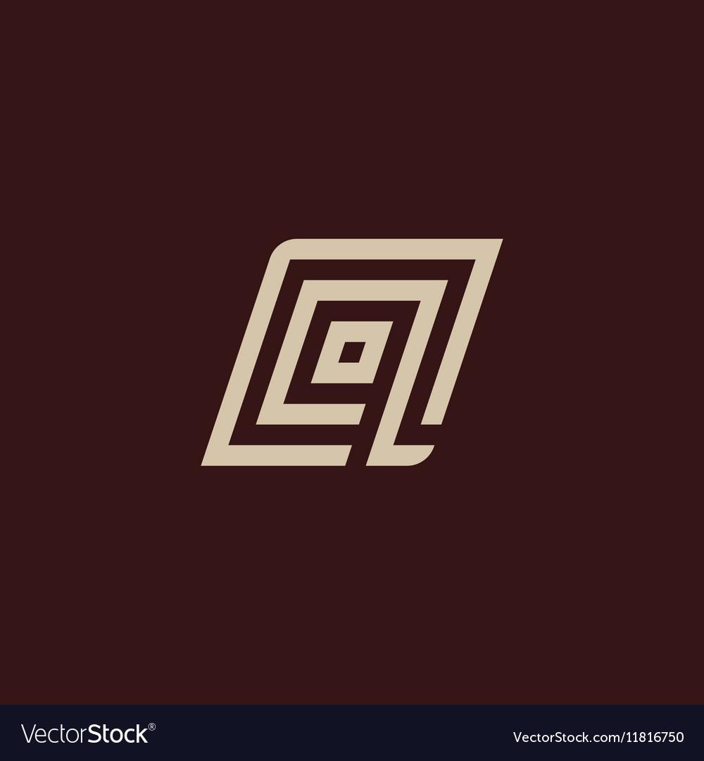 Isolated geometric white color alphabet letter q