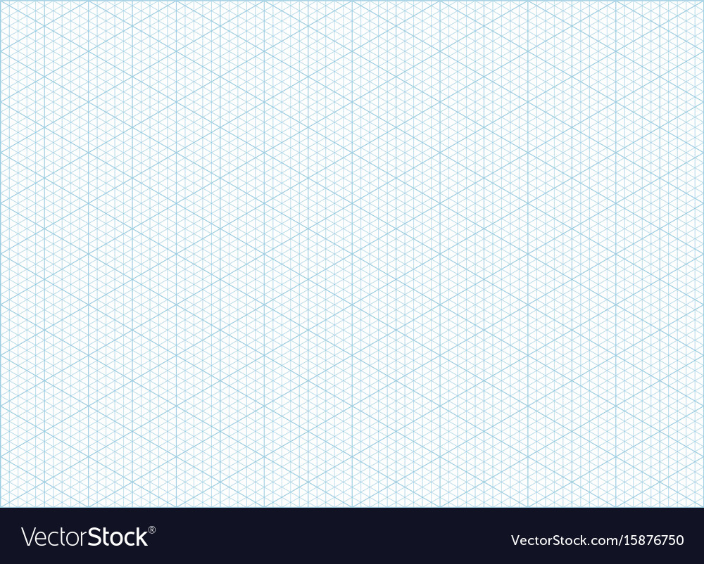 isometric grid graph paper background royalty free vector
