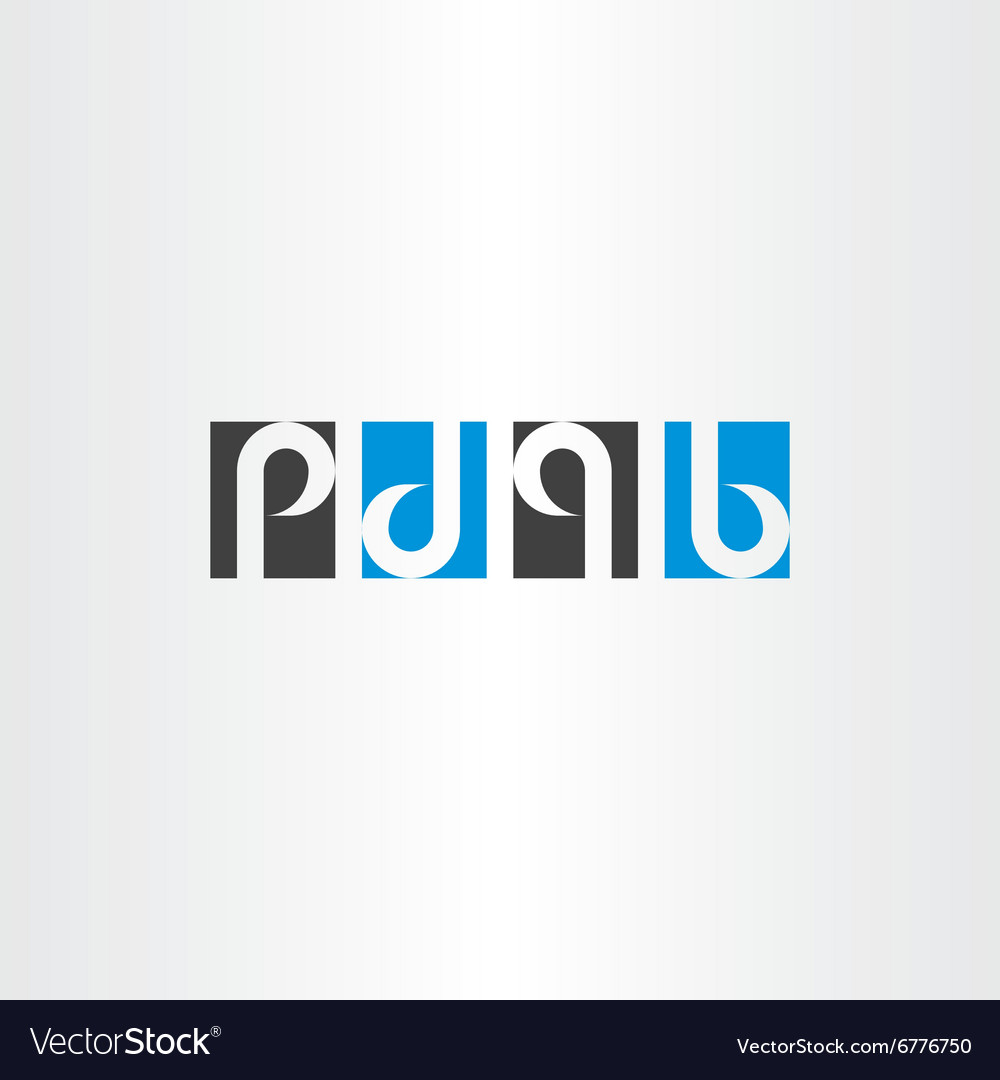Letter p d q b same rotation combination logo icon