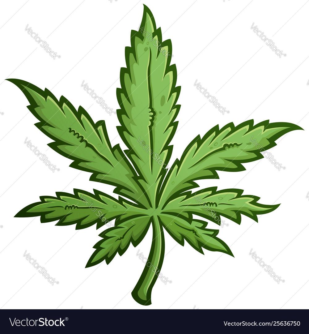 Marijuana leaf cartoon