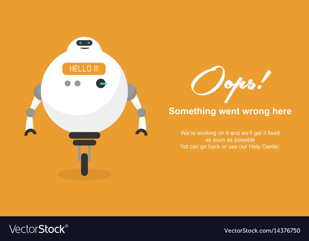 page not found error 404 template royalty free vector image
