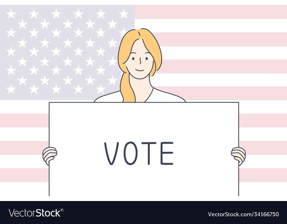 Politics election usa voting concept