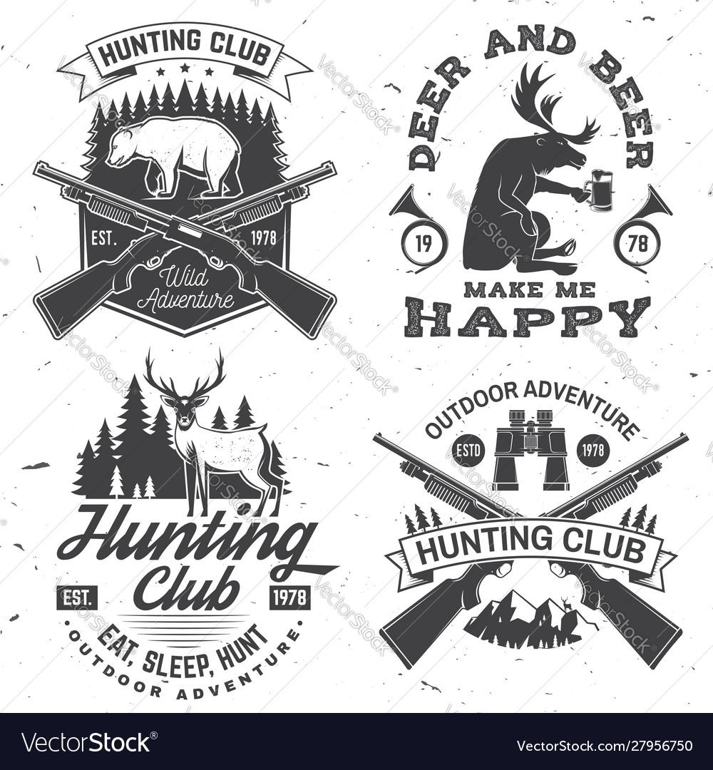 Set hunting club badge concept