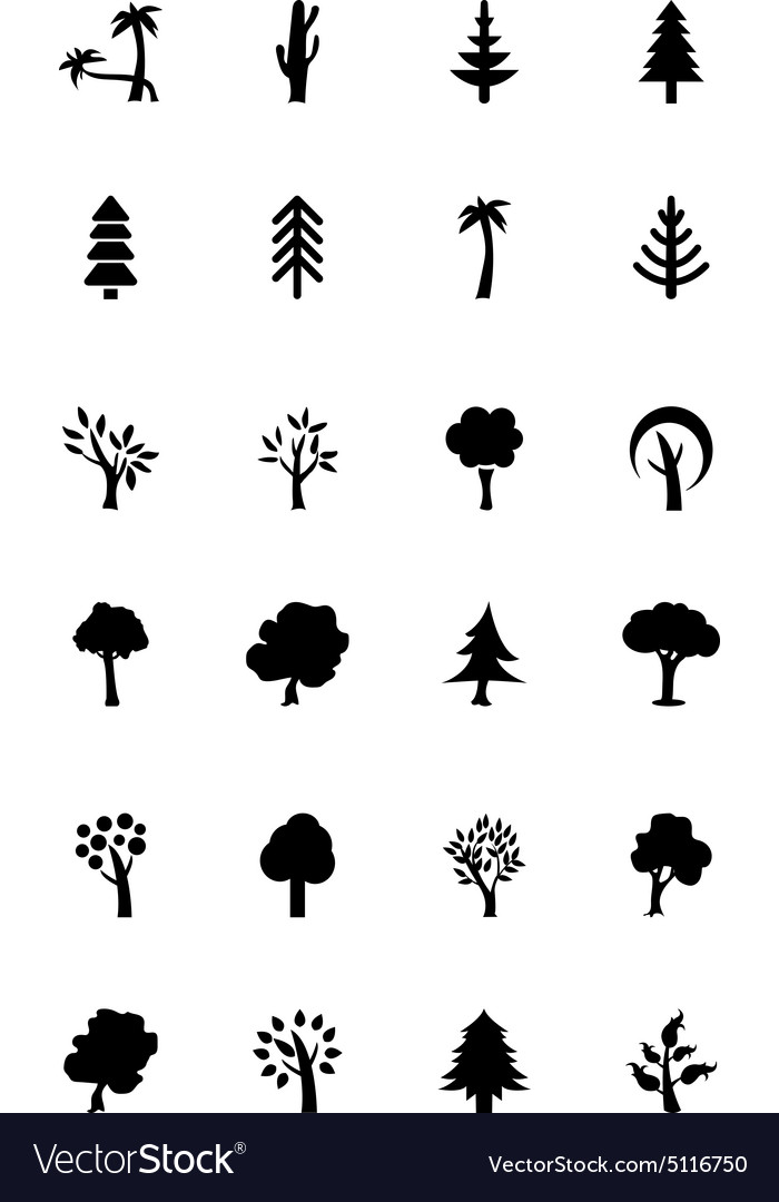 Trees Icons 2 vector image