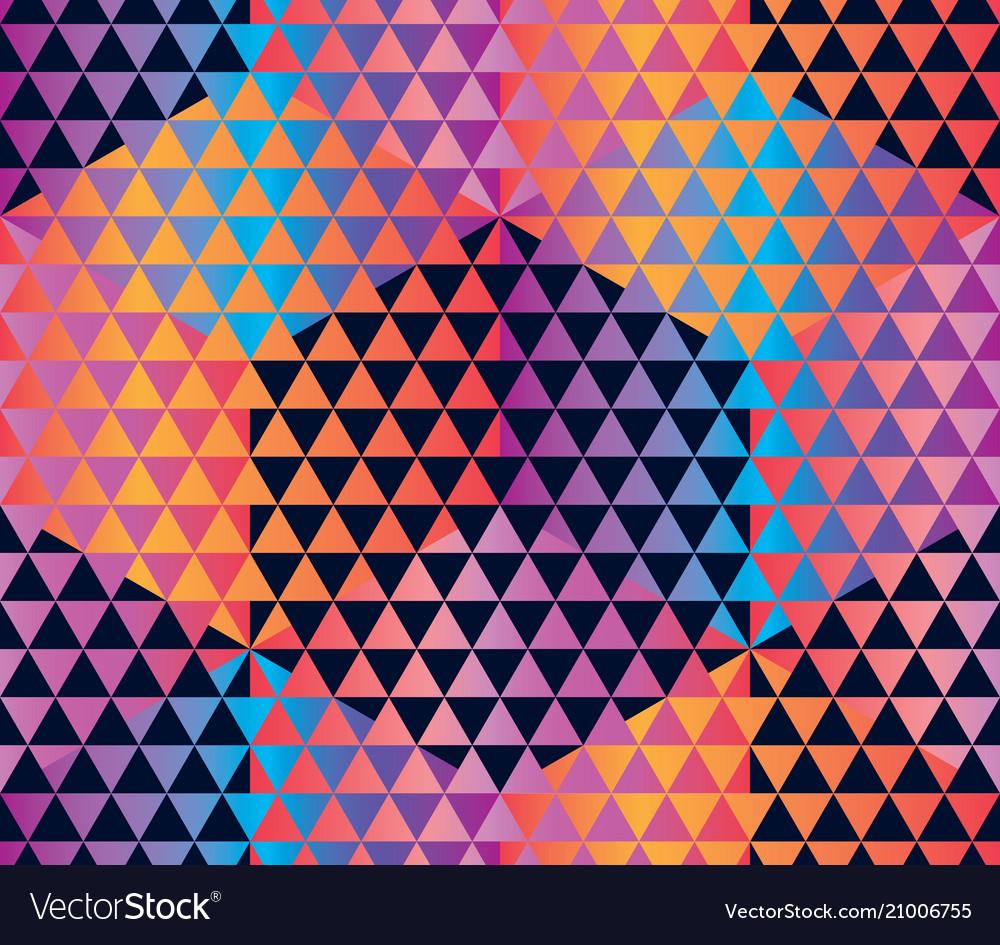 Concept hexagon geometric seamless pattern
