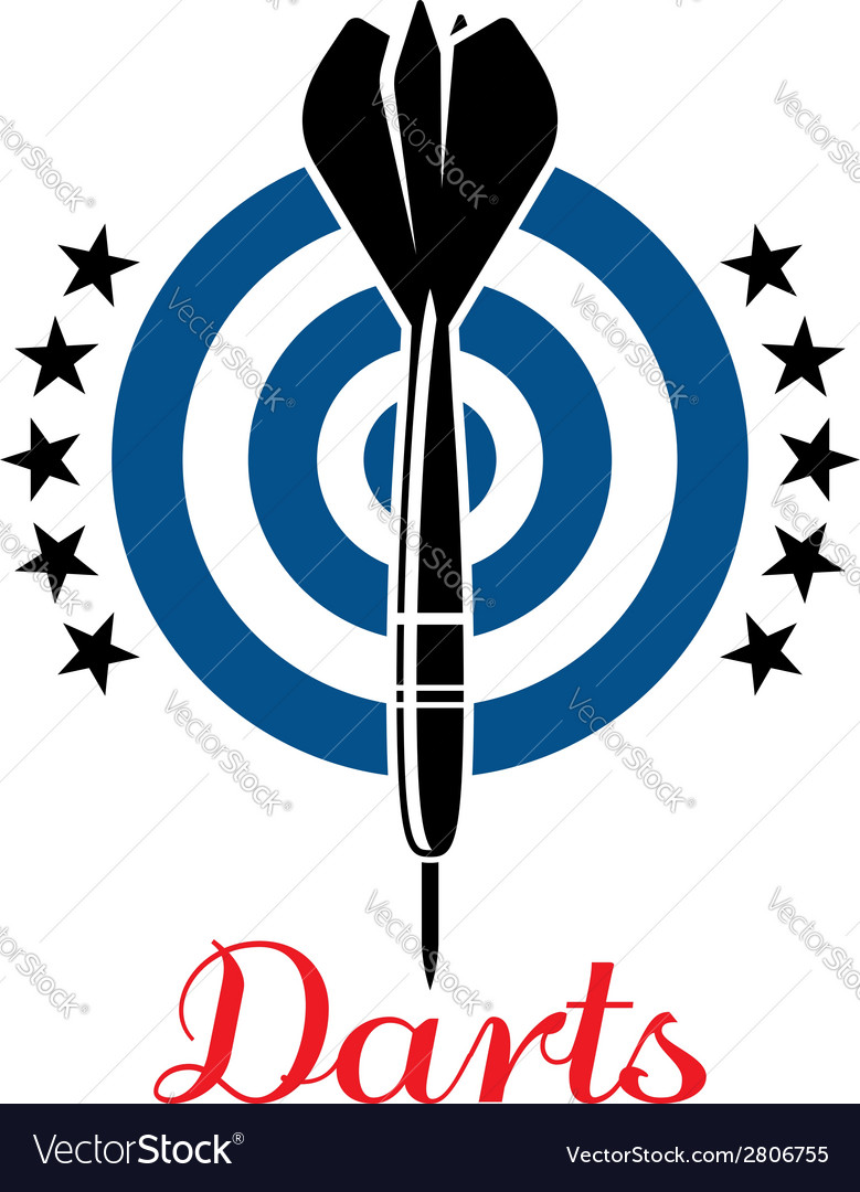Darts emblem or logo vector image